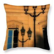 Paris Shadows Throw Pillow