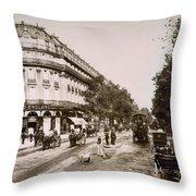 Paris: Street Scene, 1890 Throw Pillow