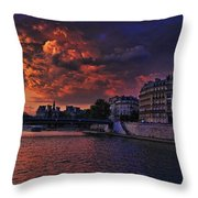 Paris Sundown Throw Pillow