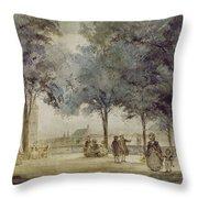 Paris: Tuilerie Gardens Throw Pillow