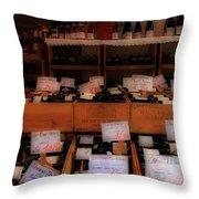 Paris Wine Shop Throw Pillow