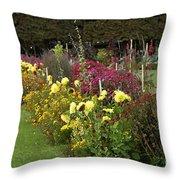 Parisian Park Morning Garden Throw Pillow