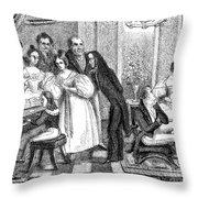 Parisian Salon Throw Pillow