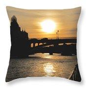 Parisian Sunset Throw Pillow