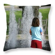 Childhood Waterpark Dreams Throw Pillow