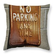 Park Here Throw Pillow