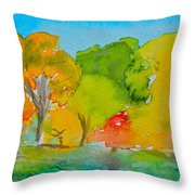 Park Impression Throw Pillow