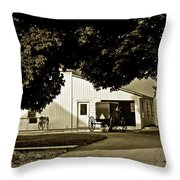 Parked Buggy - Lancaster Pennsylvania Throw Pillow