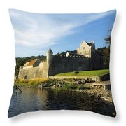 Parkes Castle, Co Leitrim, Ireland Throw Pillow