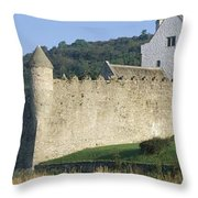 Parkes Castle,co Sligo,irelandpanoramic Throw Pillow