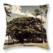 Parkside Postcard Throw Pillow