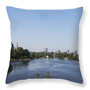 Parliament And Ottawa River  Throw Pillow
