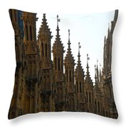 Parliament's Spires Throw Pillow