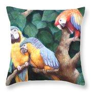 Parrot Painting Throw Pillow
