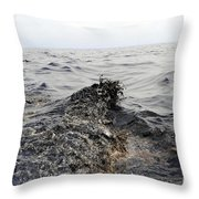Part Of An Oil Slick In The Gulf Throw Pillow