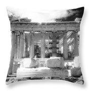 Parthenon Infrared Throw Pillow