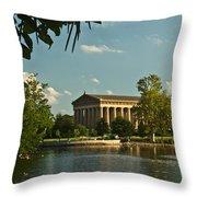 Parthenon At Nashville Tennessee 1 Throw Pillow