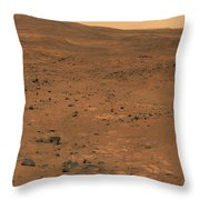 Partial Seminole Panorama Of Mars Throw Pillow
