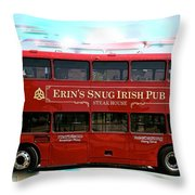 Party Bus Throw Pillow