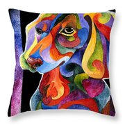 Party Doxy Throw Pillow