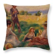 Party In The Country At Berneval Throw Pillow