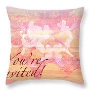Party Invitation - General - Wild Azalea Blossoms Throw Pillow