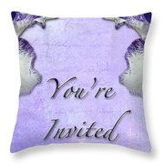 Party Invitation - General - Wild Iris - Blue Flag Throw Pillow