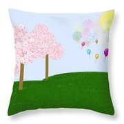 Party Over The Hill Throw Pillow