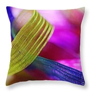 Party Ribbons Throw Pillow by Judi Bagwell