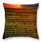 Pascal's Wager Throw Pillow