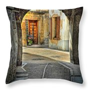 Passageway And Arch In Provence Throw Pillow