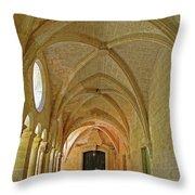 Passageway In A Monastery  Throw Pillow