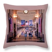 Passengers And Flags Throw Pillow
