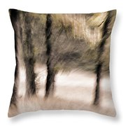 Passing By Trees Throw Pillow