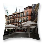 Passing By Zocodover Square Throw Pillow