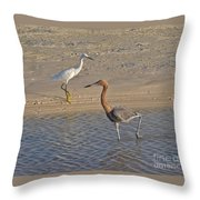 Passing Egrets Throw Pillow