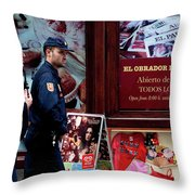 Passing Plaza Police Throw Pillow