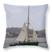 Passing St Mawes Throw Pillow