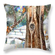 Passing Through Air Throw Pillow by Leslie Kell