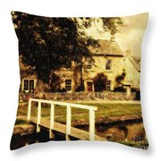 Passing Through The Cotswolds Throw Pillow