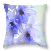 Passion For Flowers. Blue Dreams Throw Pillow