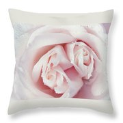 Passion For Flowers. One Rose Two Hearts Throw Pillow