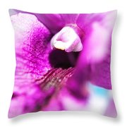 Passion For Flowers. Orchid Close Up Throw Pillow