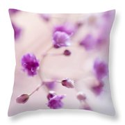 Passion For Flowers. Purple Pearls Of Gypsophila Throw Pillow