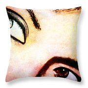 Passionate Eyes Throw Pillow