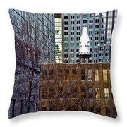 Past And Present 3 Throw Pillow