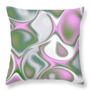 Pastel Colored Teardrop Fractal Throw Pillow