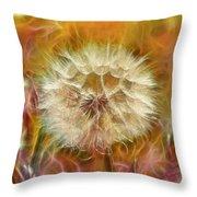 Pastel Dandelion Flare Throw Pillow