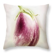 Pastel Eggplant Throw Pillow
