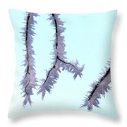 Pastel Glow On The Frost Throw Pillow
